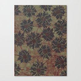 Batik Poppies Canvas Print