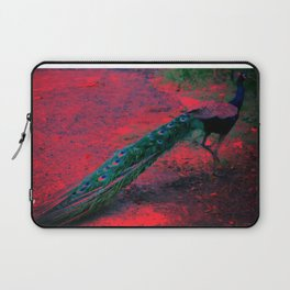 A  Psychedelic Day for the Peacock. Laptop Sleeve