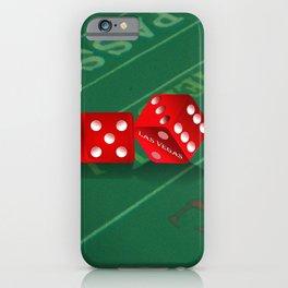 Craps Table & Red Las Vegas Dice iPhone Case