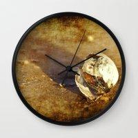 seashell Wall Clocks featuring Seashell by Svetlana Sewell