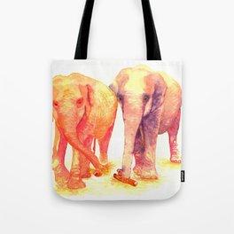 A couple of elephants Tote Bag