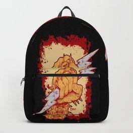 Heavy Metal Rock N Roll Bolt Backpack
