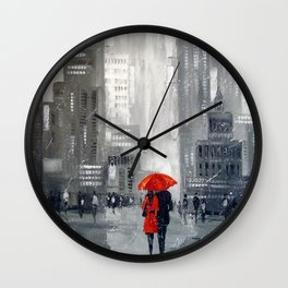 Together in new York Wall Clock