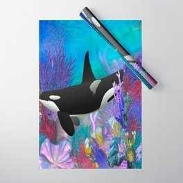 Under The Sea Orca Killer Whale Wrapping Paper