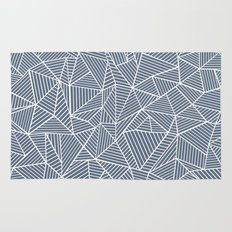Ab Lines Navy and White Rug
