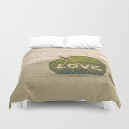 1 Corinthians 13:13 The Greatest is Love Duvet Cover