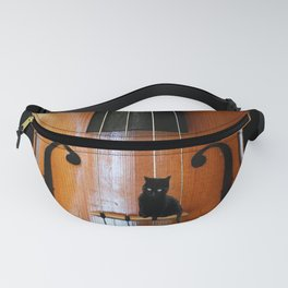Black Cat And Violin #decor #society6 Fanny Pack