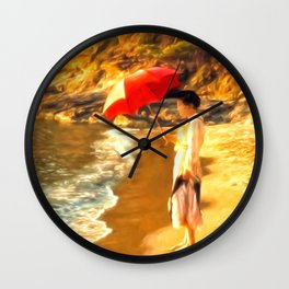 Old Fashioned Sunscreen Wall Clock