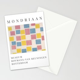 Piet Mondrian Exhibition Art Poster 1986 - Composition with color fields Stationery Cards