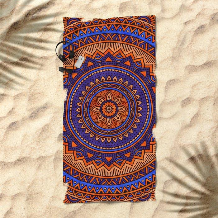 Hippie mandala 41 Beach Towel