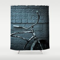 bicycle Shower Curtains featuring Bicycle by Jamie Klock