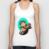 castiel Tank Tops featuring Castiel by oh, wolves