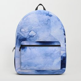 Marbled Water Blue Backpack