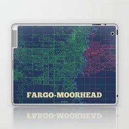 Fargo-Moorhead Street Map Laptop & iPad Skin