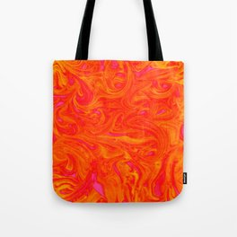 Orange on Fire with Swirls of Pink and Yellow Tote Bag