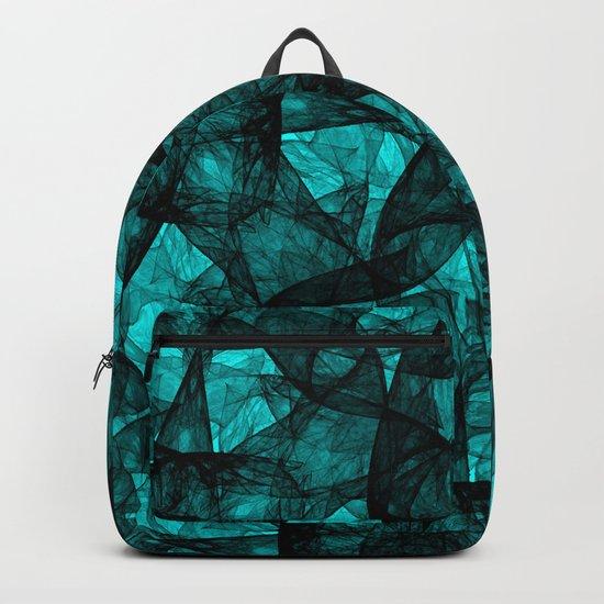 Fractal Art Turquoise G52 Backpack