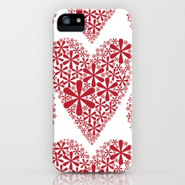asterisk heart iPhone Case