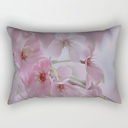 Delicate Pink Blossoms Rectangular Pillow