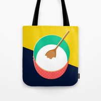 baking Tote Bags featuring Baking Bowl by Sam Osborne
