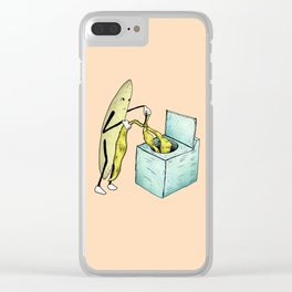 Banana Laundry Clear iPhone Case