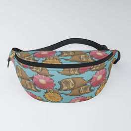 Fishy Flower Time Fanny Pack