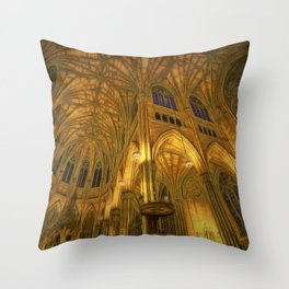 Golden Light Cathedral Throw Pillow