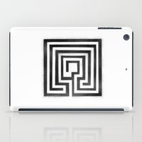labyrinth iPad Cases featuring Labyrinth by Maria Quilez