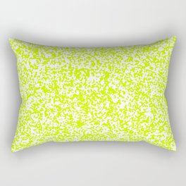 Tiny Spots - White and Fluorescent Yellow Rectangular Pillow