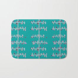 Boat Docks Naples-Pinks on Aqua Bath Mat
