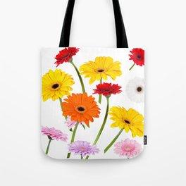Colorful gerbera daisies Tote Bag