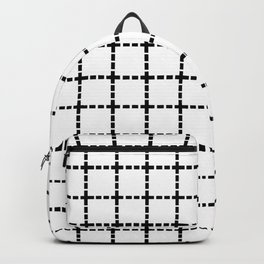 Dotted Grid Black on White Backpack
