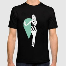 For the sweet tooth MEDIUM Mens Fitted Tee Black