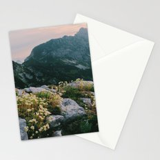 Mountain flowers at sunrise Stationery Cards