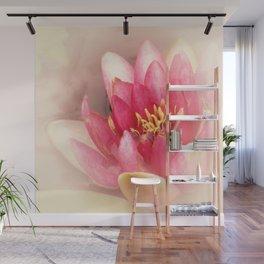 Pink Waterlily Pastel Wall Mural