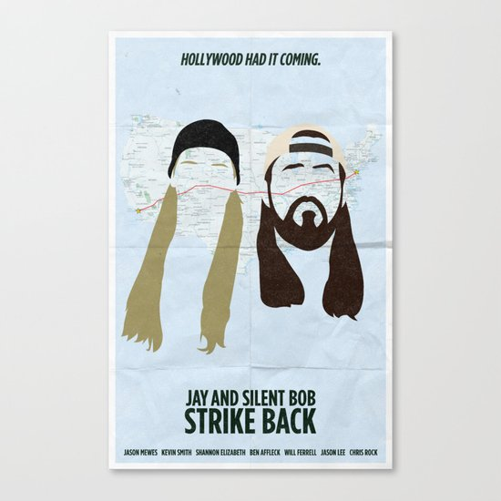 Jay and Silent Bob Strike Back Canvas Print