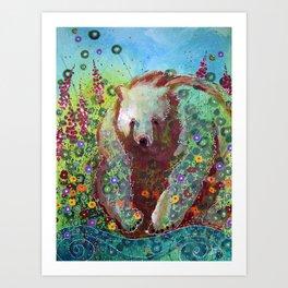 Fireweed Bear Art Print