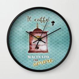 Coffee Ground with Love Wall Clock