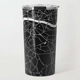 London Black on White Street Map Travel Mug