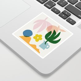 Abstraction_Floral_002 Sticker
