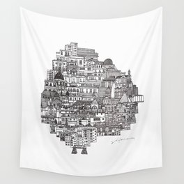 Buenos Aires Map Wall Tapestry