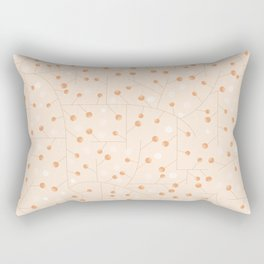 Branches with orange berries texture Rectangular Pillow