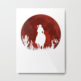 RED DEAL REDEMPTION 2 -RED MOON COWBOY Metal Print