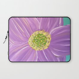 Purple Sunburst Flower Laptop Sleeve