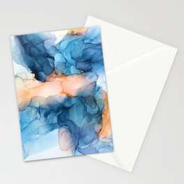 Captivate- Alcohol Ink Painting Stationery Cards
