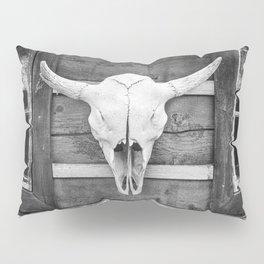 Buffalo Skull Pillow Sham