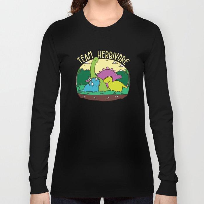05b084538e Team Herbivore T-Shirt Kids Vegan Dinosaur Veggie Cute Sweet Vegetarian  Gifts Funny Vegans Long Sleeve T-shirt