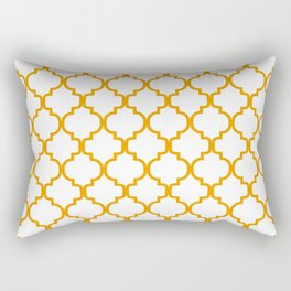 Moroccan Trellis (Orange & White Pattern) Rectangular Pillow