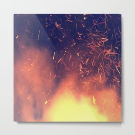 Sparks Fly High When You're Having Fun Metal Print