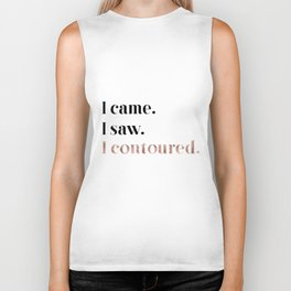 Rose gold beauty - I came, I saw, I contoured Biker Tank