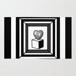 heart maze . Rug